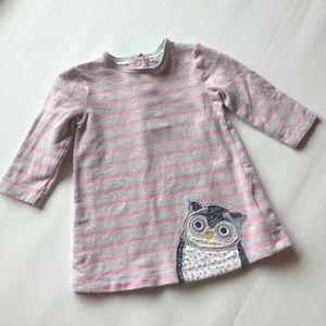 Mini Boden Owl Appliqué Dress 3-6 months